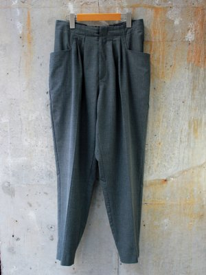 <img class='new_mark_img1' src='//img.shop-pro.jp/img/new/icons15.gif' style='border:none;display:inline;margin:0px;padding:0px;width:auto;' />【bukht】2-TUCK L POCKET TROUSERS CHECK  -1色展開-