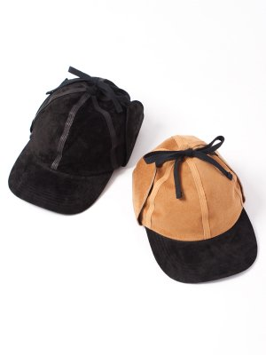 【Indietro Association】 Insideout suede ear cap -2色展開-