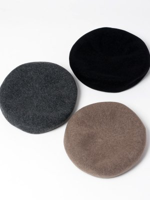 <img class='new_mark_img1' src='//img.shop-pro.jp/img/new/icons15.gif' style='border:none;display:inline;margin:0px;padding:0px;width:auto;' />【Racal】Wool Basque Beret / ウールバスクベレー -3色展開-