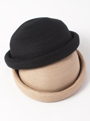 <img class='new_mark_img1' src='//img.shop-pro.jp/img/new/icons15.gif' style='border:none;display:inline;margin:0px;padding:0px;width:auto;' />【Racal】Linen Braid Roll Hat / マニラ麻 ブレードロールハット -2色展開-