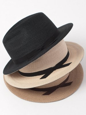 <img class='new_mark_img1' src='//img.shop-pro.jp/img/new/icons15.gif' style='border:none;display:inline;margin:0px;padding:0px;width:auto;' />【Racal】W Brim Linen Braid Hat / ダブルブリムリネンブレードハット -3色展開-