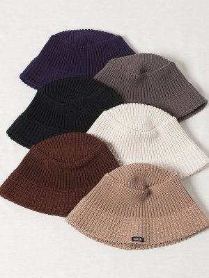 <img class='new_mark_img1' src='//img.shop-pro.jp/img/new/icons15.gif' style='border:none;display:inline;margin:0px;padding:0px;width:auto;' />【Racal】Knit Bucket Hat Down Brim / ニットバケットハット ダウンブリム -6色展開-