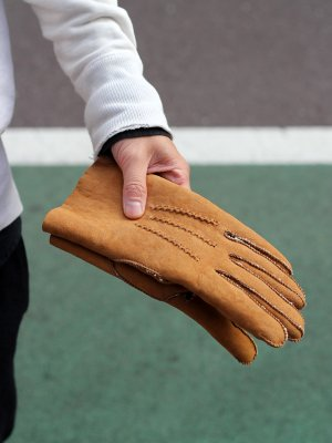 <img class='new_mark_img1' src='https://img.shop-pro.jp/img/new/icons20.gif' style='border:none;display:inline;margin:0px;padding:0px;width:auto;' />【40%OFF】【BURFIELD GLOVES】  SUEDED LAMBSKIN