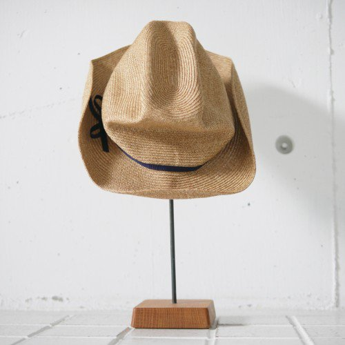"mature ha.  ""BOXED HAT"" NAVY RIBBON MBOX-106(ladies)"