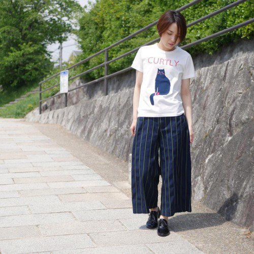 GRANDMA MAMA DAUGHTER 「CURTLY」 Tee (ladies)