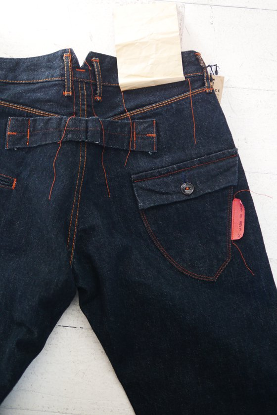 KATO` Buckle Back Denim Pants (mens/ladies)