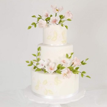Dog Roses Weddingcake