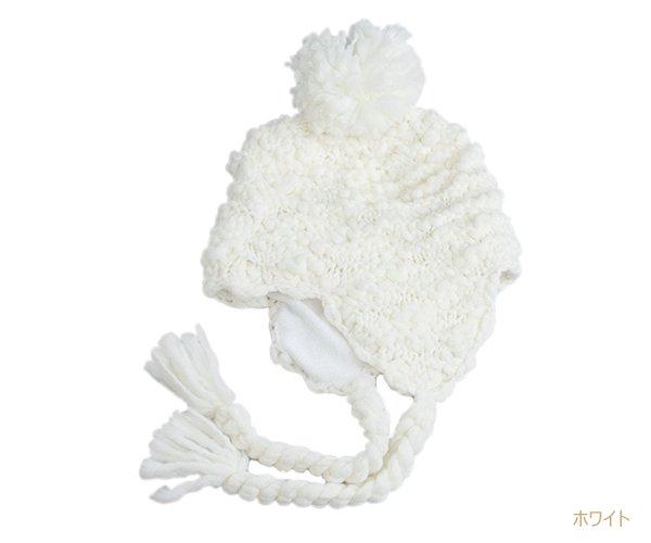 耳宛て ニット帽 ウィンタースポーツ スノボード 無地 帽子 定番 別注 オリジナル 作成 刺繍 対応可