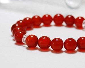 カーネリアン 天然石パワーストーンブレスレット ~新たな目標へとあなたを誘う真紅の輝き