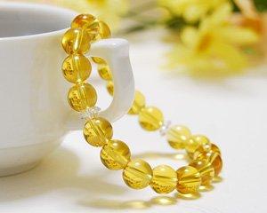 シトリン 天然石ブレスレット ~太陽の輝きが幸運を呼ぶ