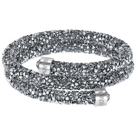 スワロフスキー Swarovski 『Crystaldust バングル Double, Gray, S』 5255898