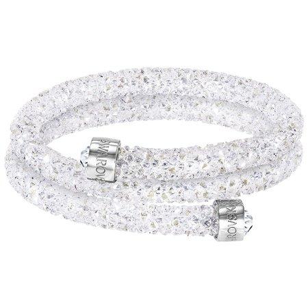 スワロフスキー Swarovski 『Crystaldust バングル Double, White, S』 5255900