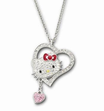 スワロフスキー Swarovski ハローキティ Hello Kitty Iconic Heart ペンダント 1106120