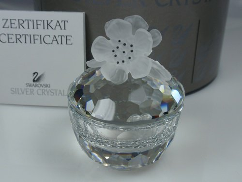 スワロフスキー Swarovski 1990年 廃盤品 『Treasure Box - Round Flowers』 010068