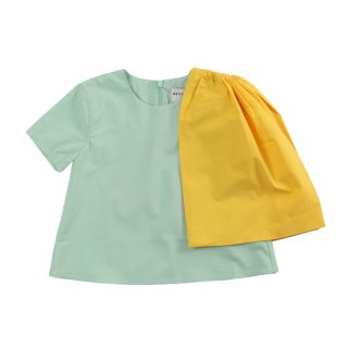 ADELIA-Blouse  Pistachio/Yellow 2Y〜10Y