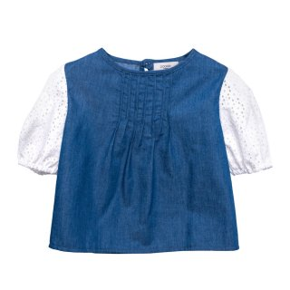 <img class='new_mark_img1' src='https://img.shop-pro.jp/img/new/icons1.gif' style='border:none;display:inline;margin:0px;padding:0px;width:auto;' />Denim Blouse Mer  2Y-8Y