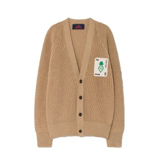 Deep Brown Racoon Cardigan 3-8Y