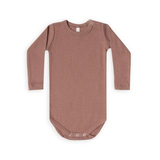 Ribbed LS Onesie clay 3-18m