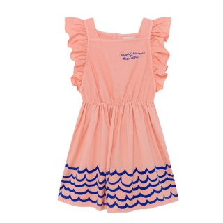 Waves Woven Ruffle Dress 2Y-7Y