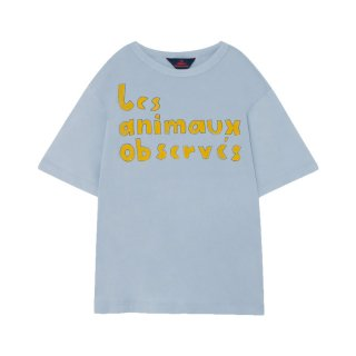Rooster oversize t-shirt blue 2Y-10Y