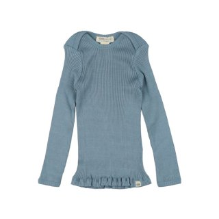 Belfast silk rib tops - Clear blue 12-24m