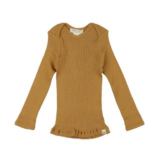 Belfast silk rib tops - Golden leaf 6-24m