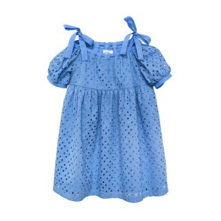Embroidered Dress Lupina blue 4-10Y