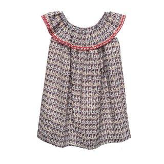 Cotton Dress Geo 4-10Y