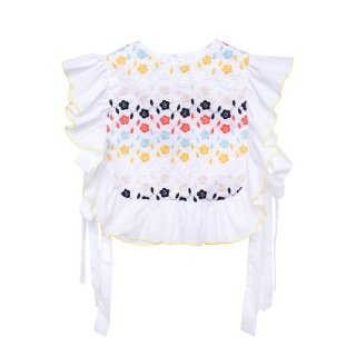 Embroidered Blouse Lupina white 4-10Y