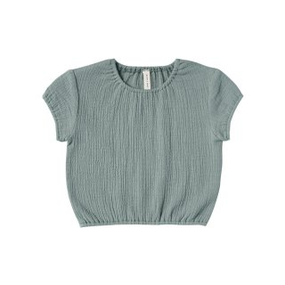 【Last one! 12-18m】Cinched Woven Tee Ocean