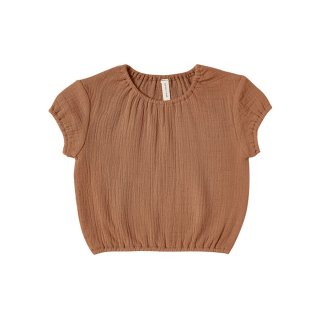 Cinched Woven Tee Rust 6-24m