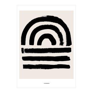 Contemporaty Sunset Border Print