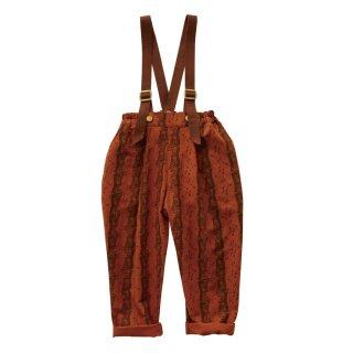 Castle printed pants  Brick red 90-130