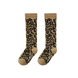 <img class='new_mark_img1' src='https://img.shop-pro.jp/img/new/icons1.gif' style='border:none;display:inline;margin:0px;padding:0px;width:auto;' />【Last one! 6/8y】Brown Leopard Knee socks
