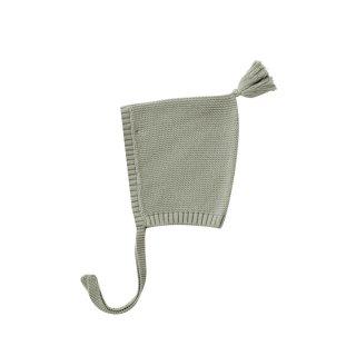 Knit Pixie Bonnet sage 3-24m