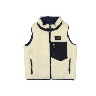 <img class='new_mark_img1' src='https://img.shop-pro.jp/img/new/icons1.gif' style='border:none;display:inline;margin:0px;padding:0px;width:auto;' />Reversible vest Navy x Ivory 100-130