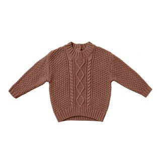<img class='new_mark_img1' src='https://img.shop-pro.jp/img/new/icons1.gif' style='border:none;display:inline;margin:0px;padding:0px;width:auto;' />【Last one! 2-3y】Cable Knit Sweater Clay
