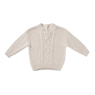 <img class='new_mark_img1' src='https://img.shop-pro.jp/img/new/icons1.gif' style='border:none;display:inline;margin:0px;padding:0px;width:auto;' />【Last one! 2-3y】Cable Knit Sweater pebble