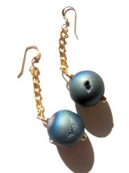 <img class='new_mark_img1' src='//img.shop-pro.jp/img/new/icons38.gif' style='border:none;display:inline;margin:0px;padding:0px;width:auto;' />OUTLET/DOURUJI AGATE LONG PIERCE EARRING