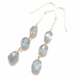 KYANITE CHAIN PIERCE EARRING