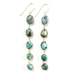 TURQUOISE LONG PIERCE EARRING