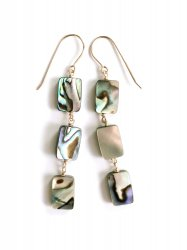 Abalone Shell Simple Pierce Earring