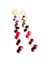 BORDEAUX GARNET PIERCE EARRING
