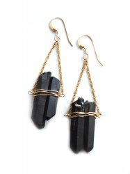 <img class='new_mark_img1' src='//img.shop-pro.jp/img/new/icons38.gif' style='border:none;display:inline;margin:0px;padding:0px;width:auto;' />METALLIC BLACK QUARTZ TRIANGLE PIERCE EARRING