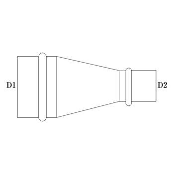 R管 125φ(D1)  100φ(D2) 亜鉛 イメージ2