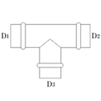 T管 125φ(D1・D2) 125φ(D3) ステンレス イメージ2