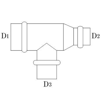 RT管 150φ(D1・D3) 125φ(D2) 亜鉛 イメージ2