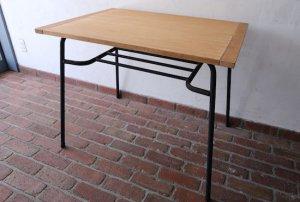 カフェテーブル|古材天板+パイプ脚|w89.5×d63×h73.5cm