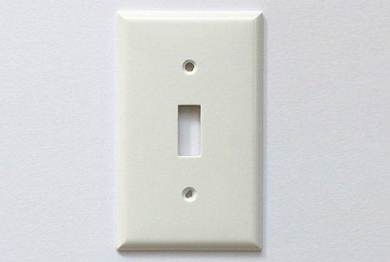 スイッチプレート 1口 / ホワイト / プラスチック