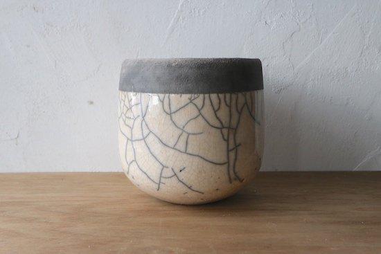 DOMANI【ドマーニ】/花器/白×grey(直径16,高さ16cm)/ミンスクポット16/ベルギー